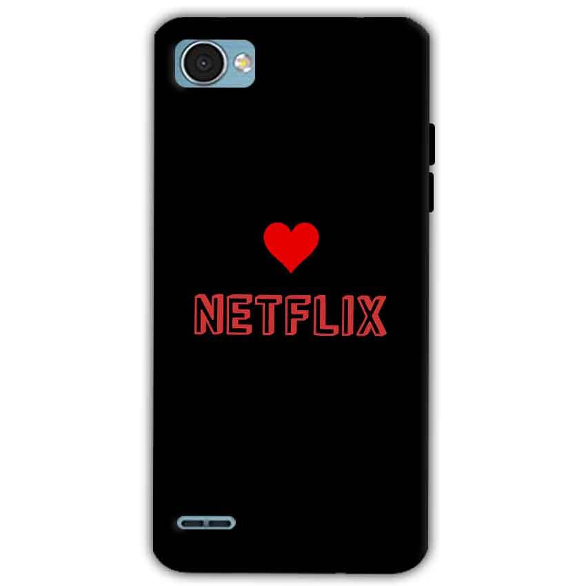 LG Q6 Mobile Covers Cases NETFLIX WITH HEART - Lowest Price - Paybydaddy.com
