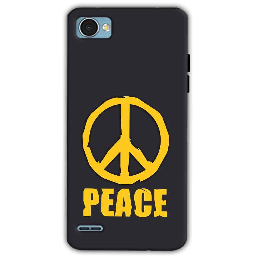 LG Q6 Mobile Covers Cases Peace Blue Yellow - Lowest Price - Paybydaddy.com