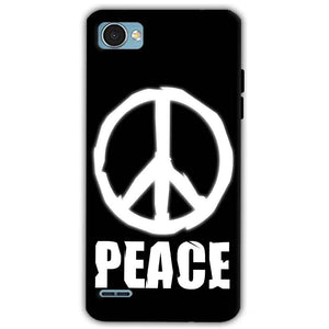LG Q6 Mobile Covers Cases Peace Sign In White - Lowest Price - Paybydaddy.com