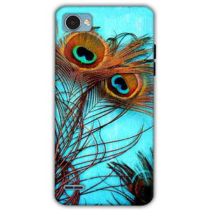 LG Q6 Mobile Covers Cases Peacock blue wings - Lowest Price - Paybydaddy.com