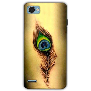 LG Q6 Mobile Covers Cases Peacock coloured art - Lowest Price - Paybydaddy.com