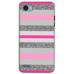 LG Q6 Mobile Covers Cases Pink colour pattern - Lowest Price - Paybydaddy.com
