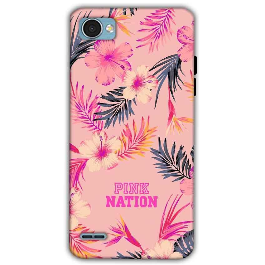 LG Q6 Mobile Covers Cases Pink nation - Lowest Price - Paybydaddy.com