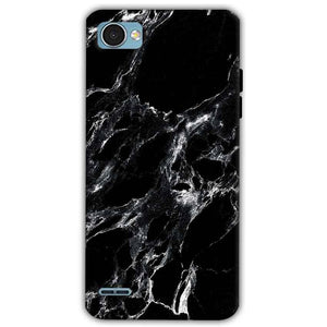 LG Q6 Mobile Covers Cases Pure Black Marble Texture - Lowest Price - Paybydaddy.com