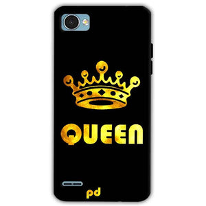 LG Q6 Mobile Covers Cases Queen With Crown in gold - Lowest Price - Paybydaddy.com