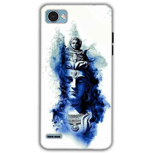 LG Q6 Mobile Covers Cases Shiva Blue White - Lowest Price - Paybydaddy.com