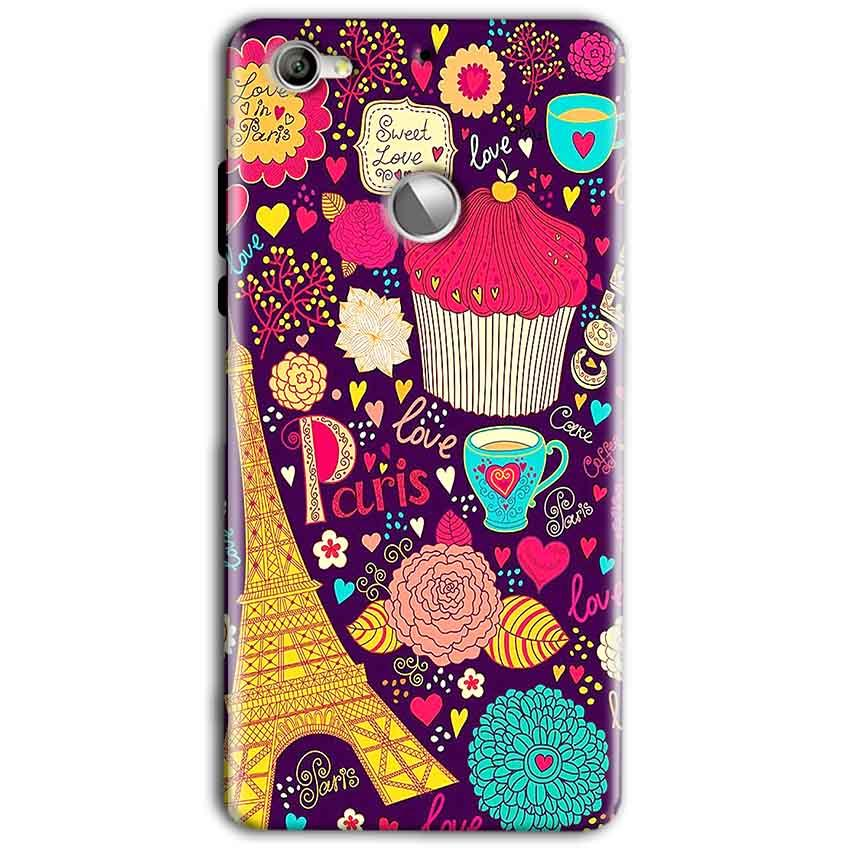 LeEco LeTv 1s Mobile Covers Cases Paris Sweet love - Lowest Price - Paybydaddy.com
