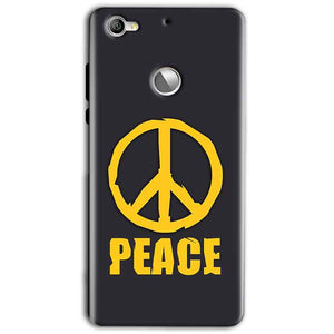 LeEco LeTv 1s Mobile Covers Cases Peace Blue Yellow - Lowest Price - Paybydaddy.com