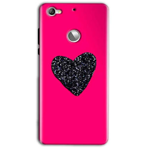 LeEco LeTv 1s Mobile Covers Cases Pink Glitter Heart - Lowest Price - Paybydaddy.com