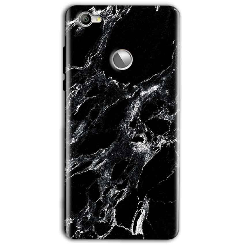 LeEco LeTv 1s Mobile Covers Cases Pure Black Marble Texture - Lowest Price - Paybydaddy.com