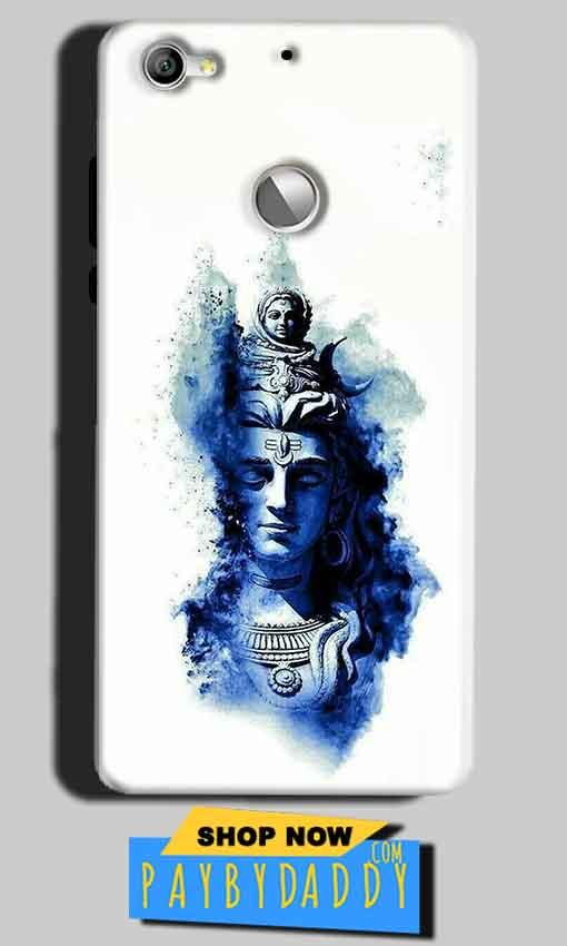 LeEco LeTv 1s Mobile Covers Cases Shiva Blue White - Lowest Price - Paybydaddy.com