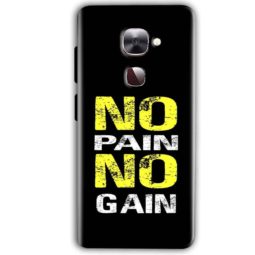 LeEco LeTv LE 2 Mobile Covers Cases No Pain No Gain Yellow Black - Lowest Price - Paybydaddy.com