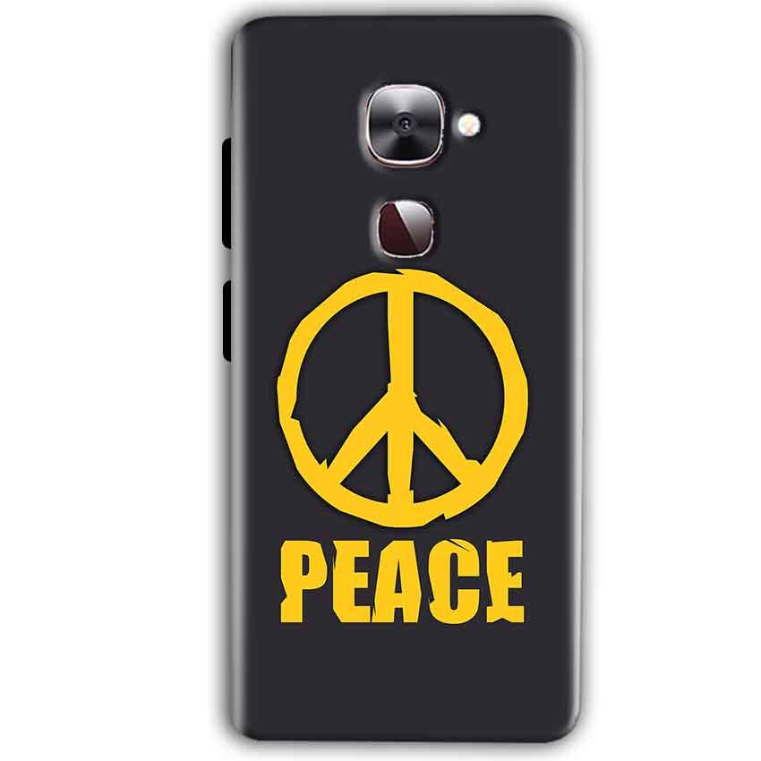 LeEco LeTv LE 2 Mobile Covers Cases Peace Blue Yellow - Lowest Price - Paybydaddy.com