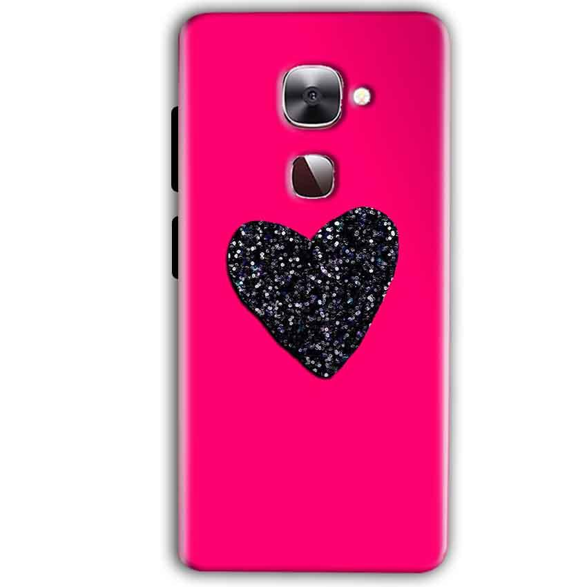 LeEco LeTv LE 2 Mobile Covers Cases Pink Glitter Heart - Lowest Price - Paybydaddy.com