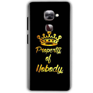 LeEco LeTv LE 2 Mobile Covers Cases Property of nobody with Crown - Lowest Price - Paybydaddy.com