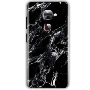 LeEco LeTv LE 2 Mobile Covers Cases Pure Black Marble Texture - Lowest Price - Paybydaddy.com