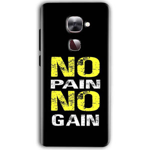 LeEco Le Max 2 Mobile Covers Cases No Pain No Gain Yellow Black - Lowest Price - Paybydaddy.com