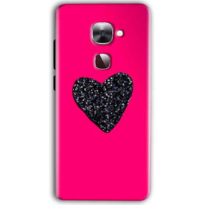 LeEco Le Max 2 Mobile Covers Cases Pink Glitter Heart - Lowest Price - Paybydaddy.com