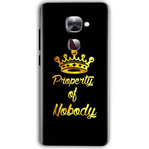 LeEco Le Max 2 Mobile Covers Cases Property of nobody with Crown - Lowest Price - Paybydaddy.com