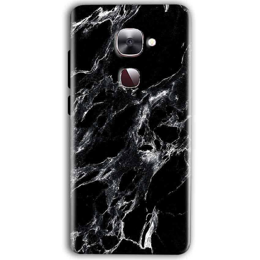 LeEco Le Max 2 Mobile Covers Cases Pure Black Marble Texture - Lowest Price - Paybydaddy.com