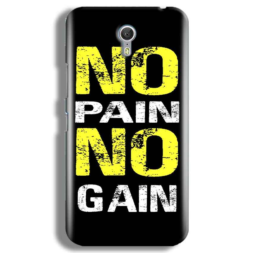 Lenevo ZUK Z1 Mobile Covers Cases No Pain No Gain Yellow Black - Lowest Price - Paybydaddy.com