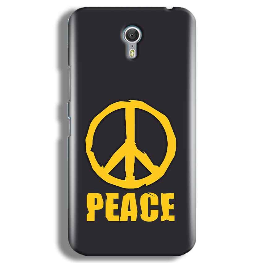 Lenevo ZUK Z1 Mobile Covers Cases Peace Blue Yellow - Lowest Price - Paybydaddy.com