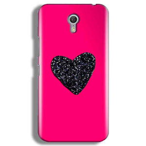 Lenevo ZUK Z1 Mobile Covers Cases Pink Glitter Heart - Lowest Price - Paybydaddy.com