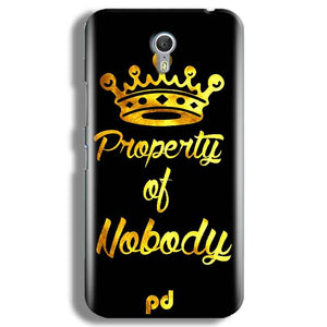 Lenevo ZUK Z1 Mobile Covers Cases Property of nobody with Crown - Lowest Price - Paybydaddy.com