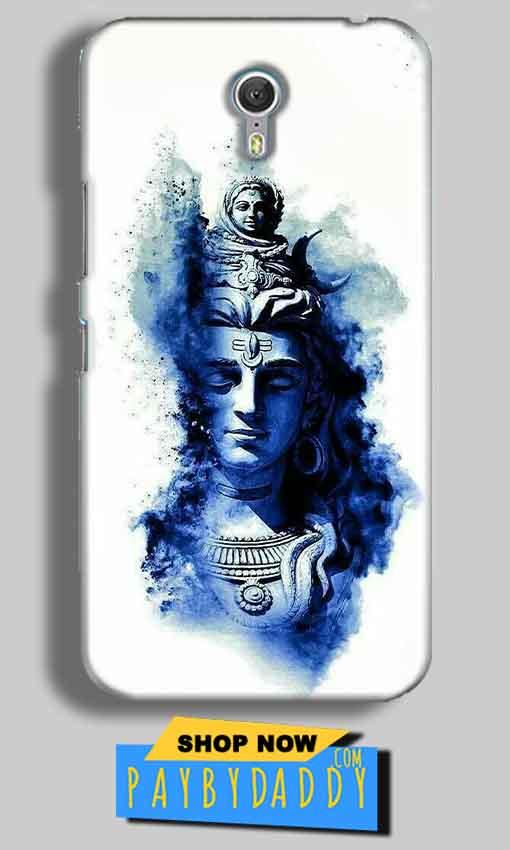 Lenevo ZUK Z1 Mobile Covers Cases Shiva Blue White - Lowest Price - Paybydaddy.com