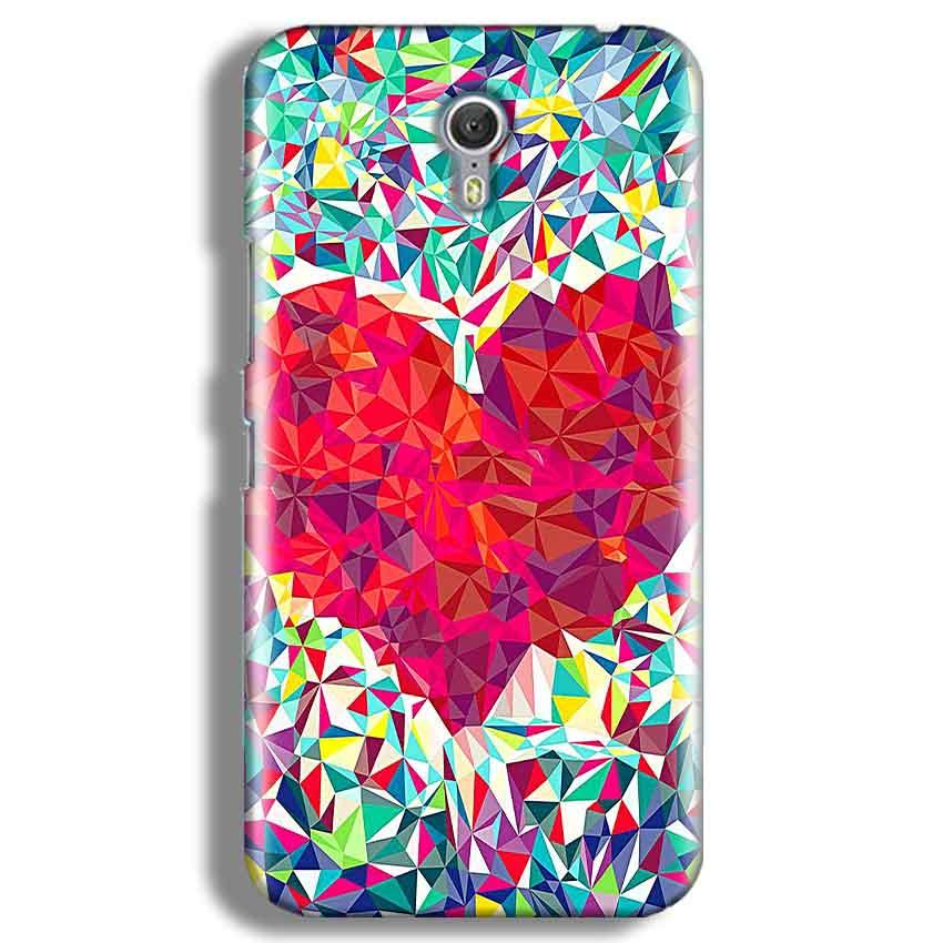 Lenevo ZUK Z1 Mobile Covers Cases heart Prisma design - Lowest Price - Paybydaddy.com