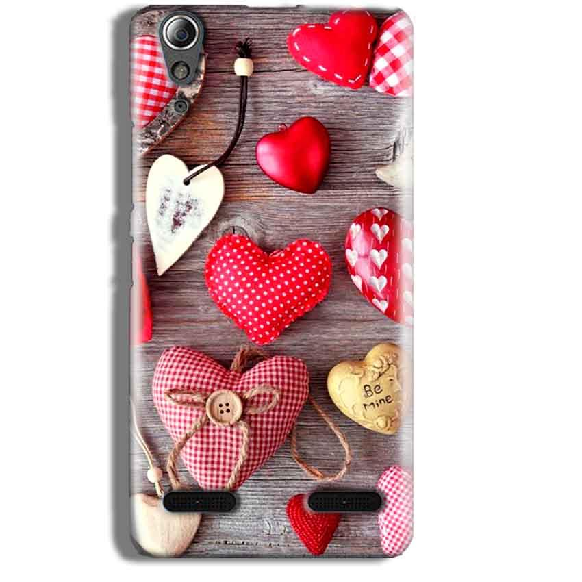 Lenovo A6000 Mobile Covers Cases Hearts- Lowest Price - Paybydaddy.com