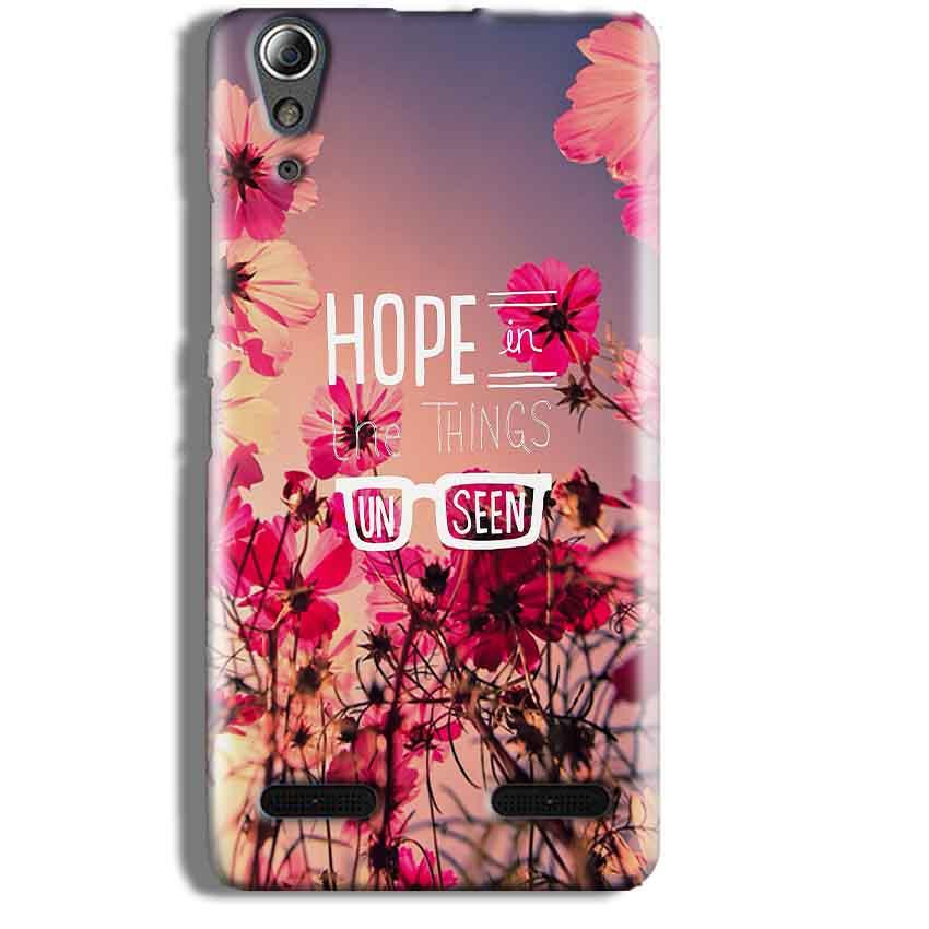 Lenovo A6000 Mobile Covers Cases Hope in the Things Unseen- Lowest Price - Paybydaddy.com