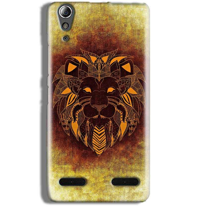 Lenovo A6000 Mobile Covers Cases Lion face art - Lowest Price - Paybydaddy.com