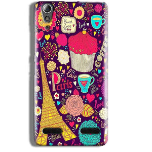 Lenovo A6000 Mobile Covers Cases Paris Sweet love - Lowest Price - Paybydaddy.com