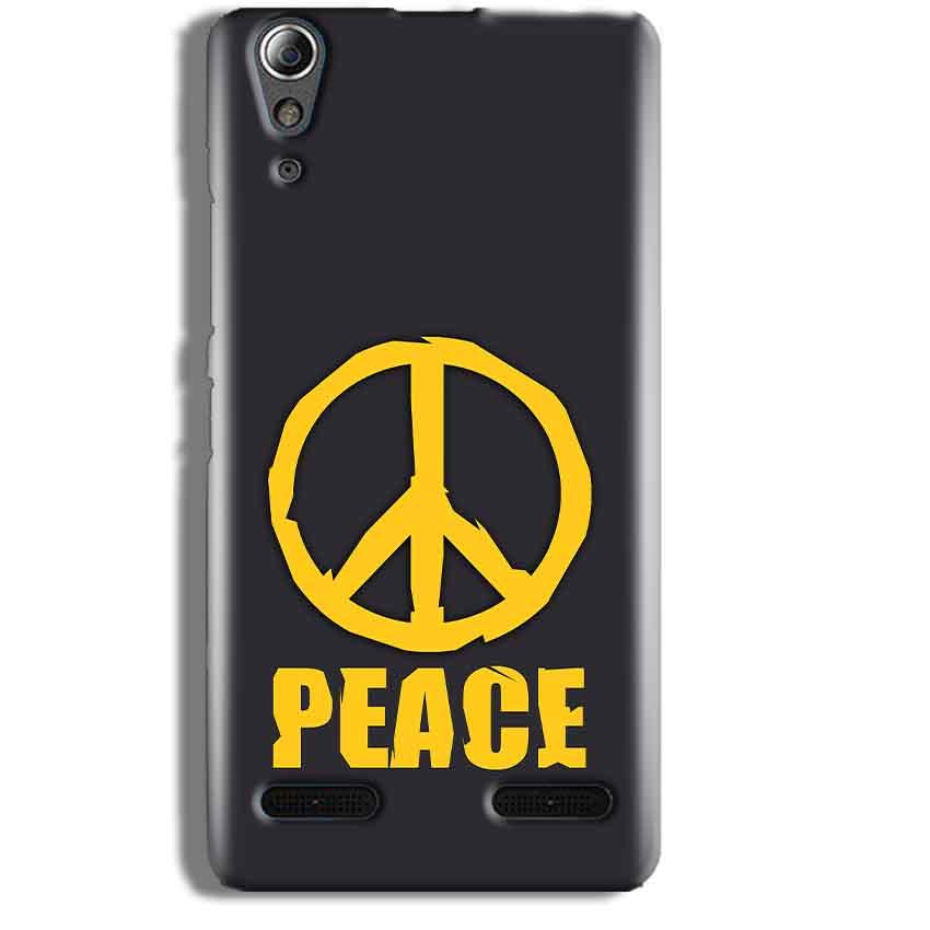 Lenovo A6000 Mobile Covers Cases Peace Blue Yellow - Lowest Price - Paybydaddy.com