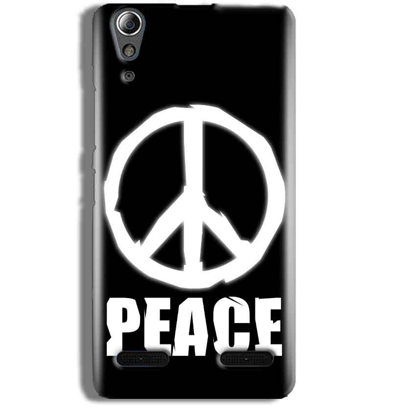 Lenovo A6000 Mobile Covers Cases Peace Sign In White - Lowest Price - Paybydaddy.com