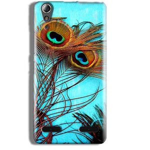 Lenovo A6000 Mobile Covers Cases Peacock blue wings - Lowest Price - Paybydaddy.com