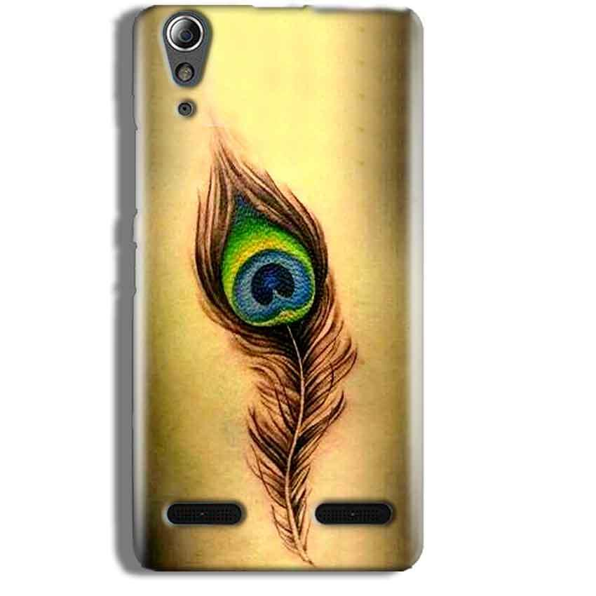 Lenovo A6000 Mobile Covers Cases Peacock coloured art - Lowest Price - Paybydaddy.com