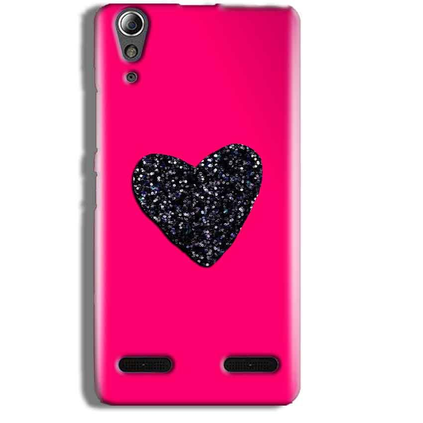 Lenovo A6000 Mobile Covers Cases Pink Glitter Heart - Lowest Price - Paybydaddy.com