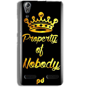 Lenovo A6000 Mobile Covers Cases Property of nobody with Crown - Lowest Price - Paybydaddy.com