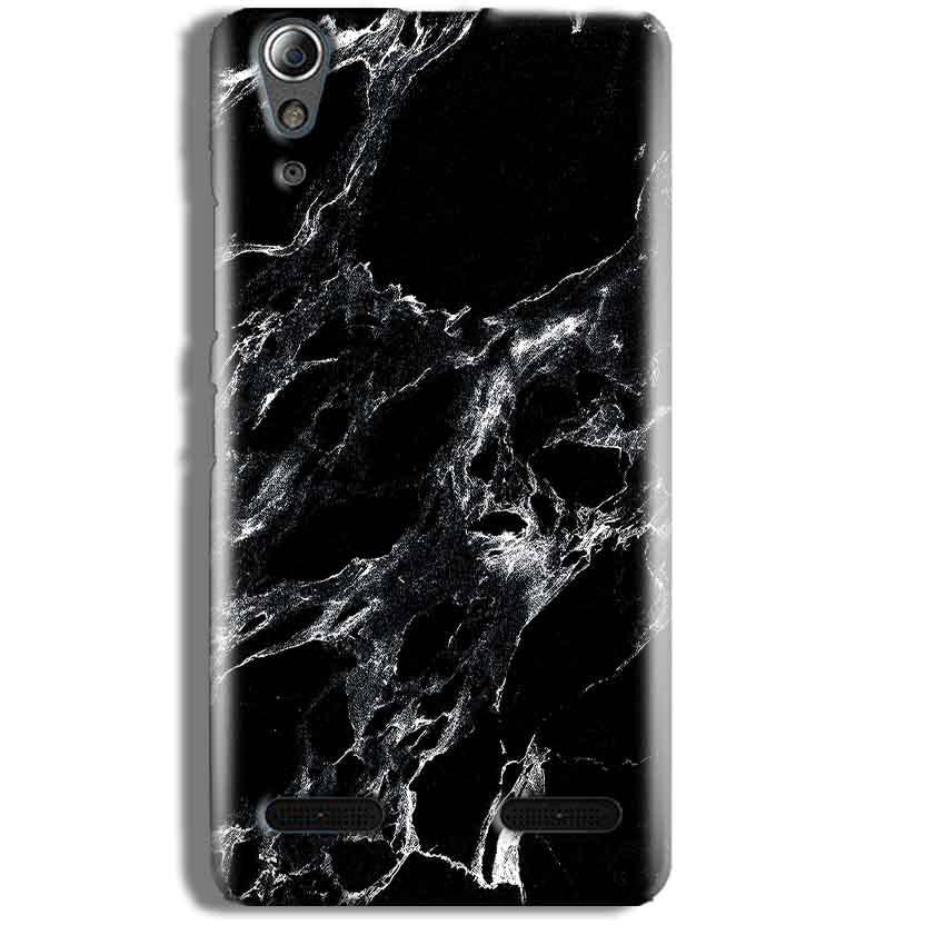 Lenovo A6000 Mobile Covers Cases Pure Black Marble Texture - Lowest Price - Paybydaddy.com