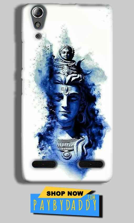 Lenovo A6000 Mobile Covers Cases Shiva Blue White - Lowest Price - Paybydaddy.com