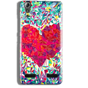 Lenovo A6000 Mobile Covers Cases heart Prisma design - Lowest Price - Paybydaddy.com