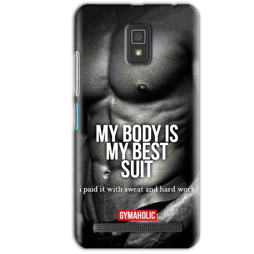Lenovo A6600 Mobile Covers Cases My Body is my best suit - Lowest Price - Paybydaddy.com