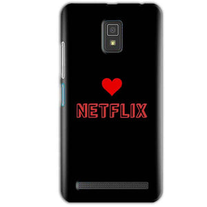 Lenovo A6600 Mobile Covers Cases NETFLIX WITH HEART - Lowest Price - Paybydaddy.com