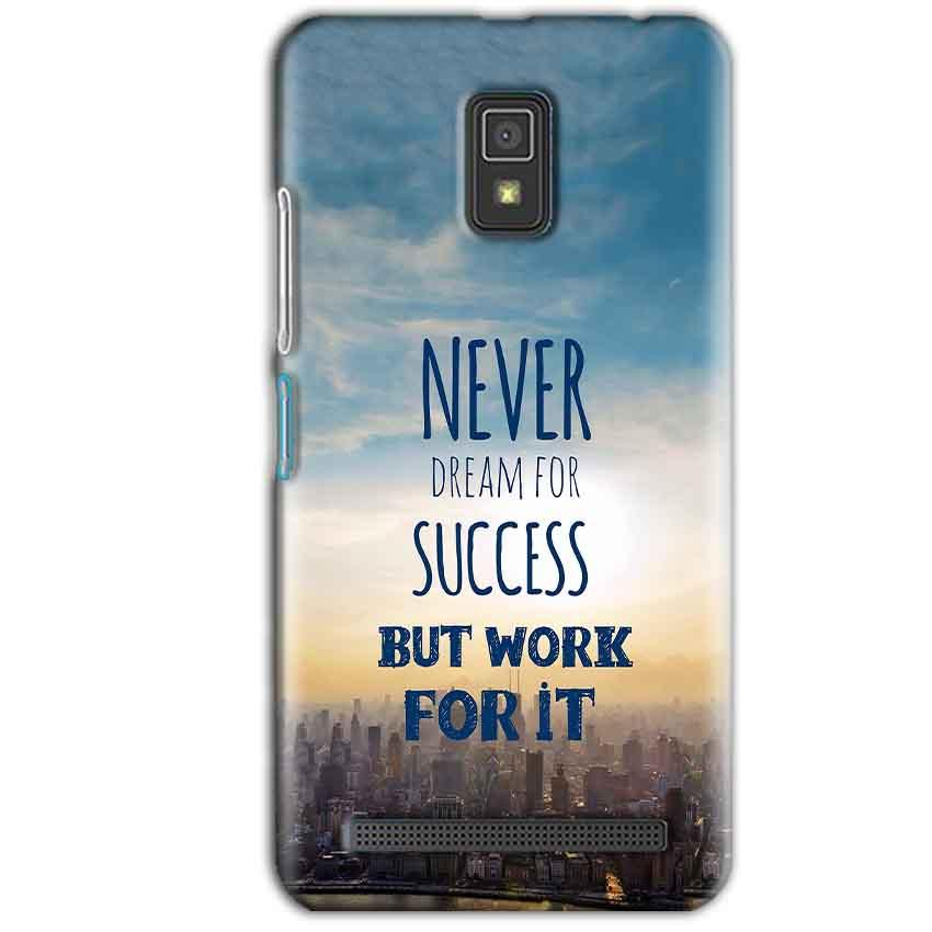 Lenovo A6600 Mobile Covers Cases Never Dreams For Success But Work For It Quote - Lowest Price - Paybydaddy.com