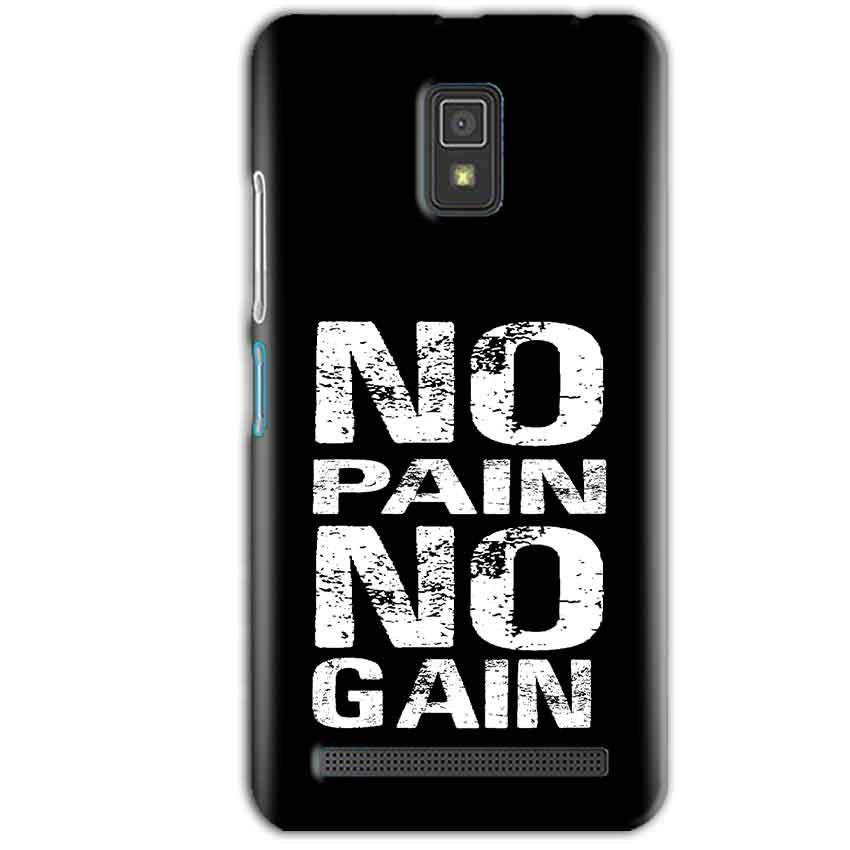 Lenovo A6600 Mobile Covers Cases No Pain No Gain Black And White - Lowest Price - Paybydaddy.com