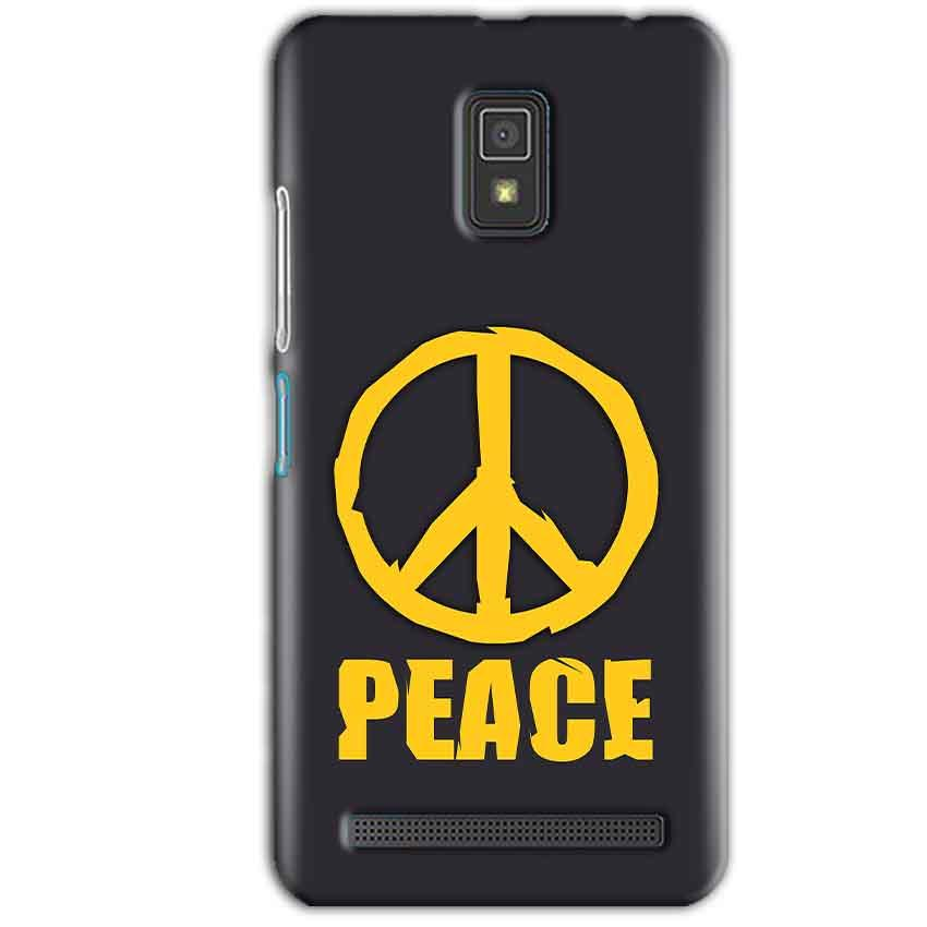 Lenovo A6600 Mobile Covers Cases Peace Blue Yellow - Lowest Price - Paybydaddy.com