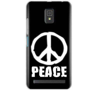 Lenovo A6600 Mobile Covers Cases Peace Sign In White - Lowest Price - Paybydaddy.com