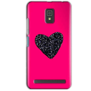 Lenovo A6600 Mobile Covers Cases Pink Glitter Heart - Lowest Price - Paybydaddy.com